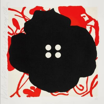 Donald Sultan, 'Button Flower Red Sept. 15 2014', 2014