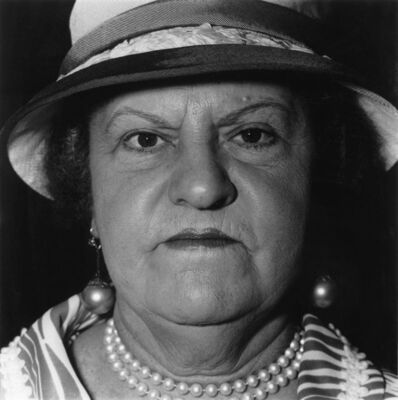 Diane Arbus, 'A Woman with Pearl Necklace and Earrings, N.Y.C.', 1967