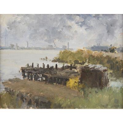 Stuart Shils, 'Delaware River with Dark Sky'