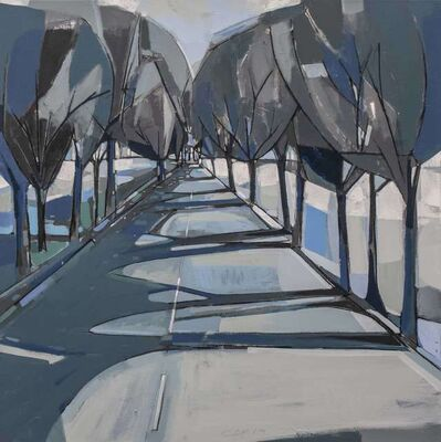 Carlos Davila Rinaldi, 'Carretera vieja (blue)', 2019