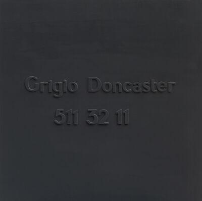 Alighiero Boetti, 'Grigio Doncaster  511 32 11', 1967