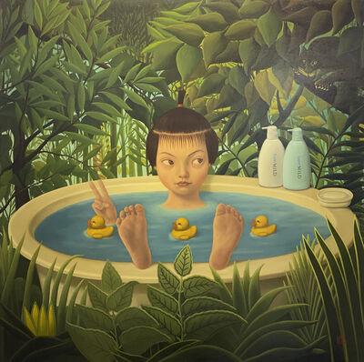 Mitsuru Watanabe, 'Naoko Taking A Bath In Rousseau's Forest', 2003