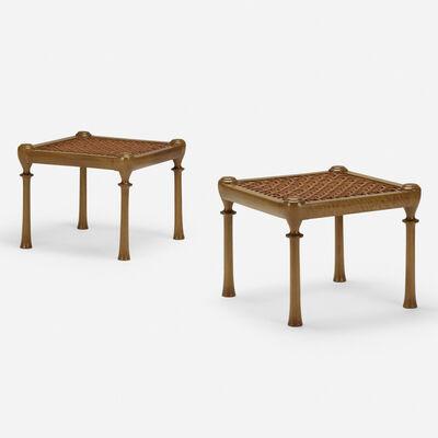 T.H. Robsjohn-Gibbings, 'Diphros stools, pair', 1961
