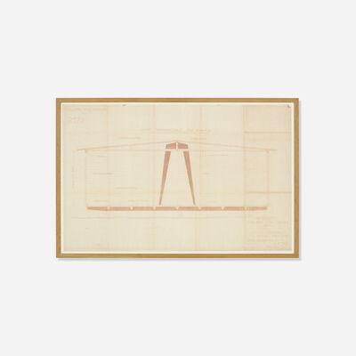 Jean Prouvé, 'Blueprint For a Demountable Pavilion', c. 1944