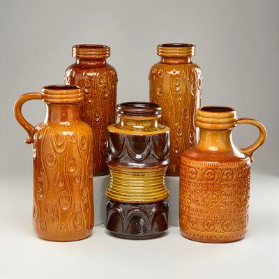 Scheurich, 'Group of five floor vases', ca.1960-70