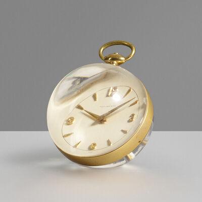 Tiffany & Company, 'Paperweight table clock', c. 1965
