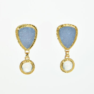 Michael Baksa, 'Chalcedony & Moonstone Earrings', 2017
