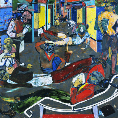 R. B. Kitaj, 'Cecil Court, London W.C.2. (The Refugees)', 1983-1984