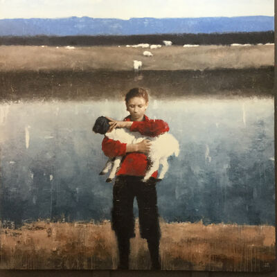 Gary Ruddell, 'Safe, boy with lamb', 2020