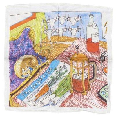 "Grayson Perry, '""THE VANITY OF SMALL DIFFERENCES"" SCARF', 2013"
