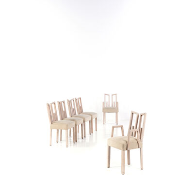 James Mont, 'Set of Four Chairs and Two Armchairs', circa 1940