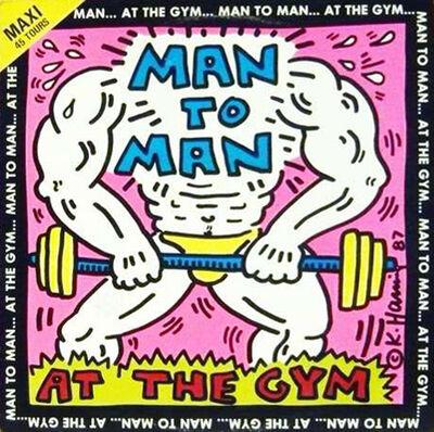 Keith Haring, 'Man to Man Vinyl Record', 1987