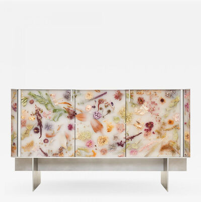 Marcin Rusak, 'Flora Cabinet 152 Misty White', 2021