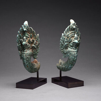 Khmer, 'Khmer Pair of Finials in the Form of Garuda', 12th Century AD