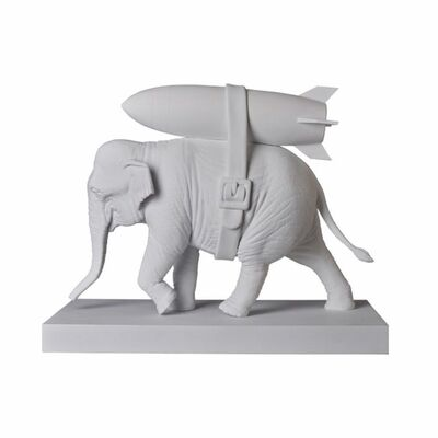 Banksy, 'Banksy Elephant with Bomb White Ver.', 2020