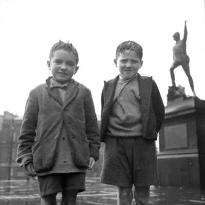 Fred Maroon, 'Two Boys, Liverpool, England ', 1951