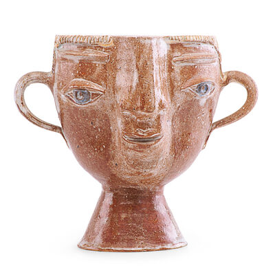 Marguerite Wildenhain, 'Portrait vase with ear handles, Guerneville, CA'