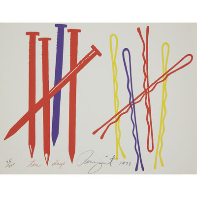 James Rosenquist, 'Ten Days from New York Collection for Stockholm', 1973