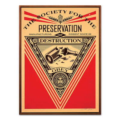 Shepard Fairey, 'The Society for the Preservation of Destruction', 2015