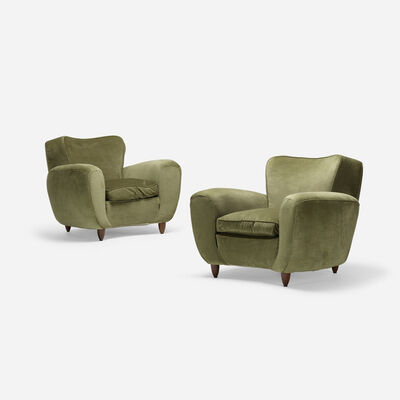 Attributed to Guglielmo Ulrich, 'lounge chairs, pair', c. 1940