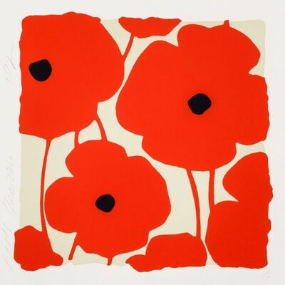 Donald Sultan, 'Three Poppies (Suite of 6)', 2020