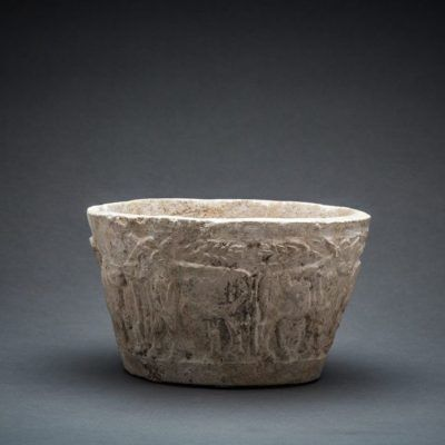 Unknown Sumerian, 'Sumerian Stone Bowl with animals scene', 3000 BCE-2000 BCE