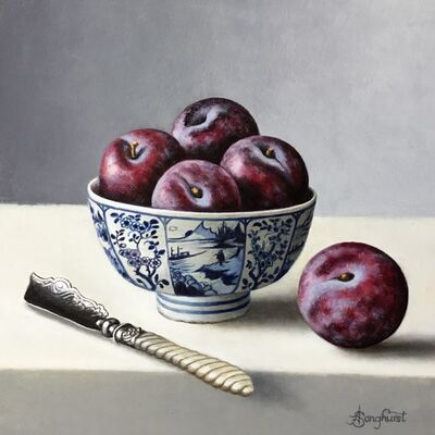 Anne Songhurst, 'Chinese Bowl with Plums', 2019