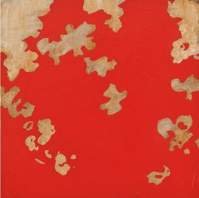 Helen Bellaver, 'Garden Red- Bold Abstract Expressionist Panting with Flowers', 2019