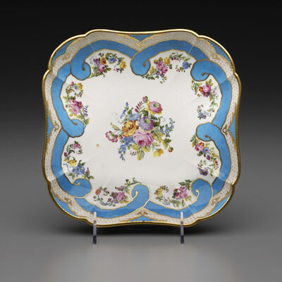 Sèvres Porcelain Manufactory, 'Two Square Fruit Dishes (Part of a Dessert Service)', 1782