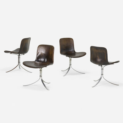 Poul Kjærholm, 'PK 9 chairs, set of four', 1960