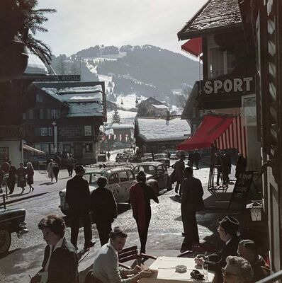 Slim Aarons, 'Gstaad Town Centre, Switzerland (Slim Aarons Estate Edition)', 1961