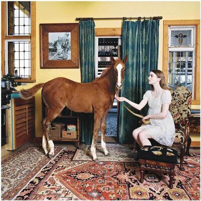 Laura Wilson, 'Girl and Colt In Living Room, Weatherford, Texas', 2010