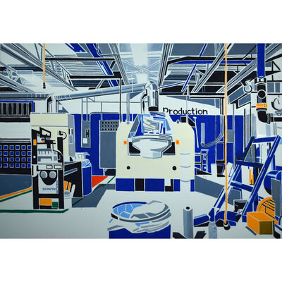 Michael Merrill, 'Paint Factory, White', 2020