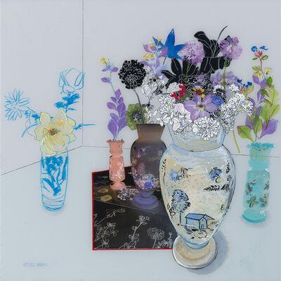 Gail Norfleet, 'Interior with Flower Vases', 2019
