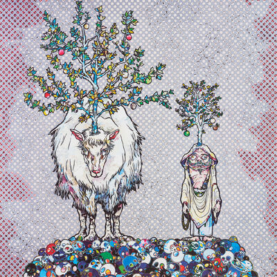 Takashi Murakami, 'Deer God of the Forest and Arhat', 2015