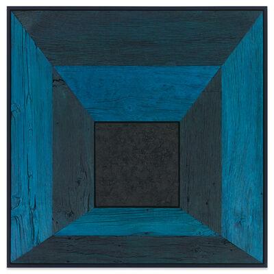 Douglas Melini, 'Untitled (Tree Painting, Mitered Corner/Pthalo Blue), ', 2019