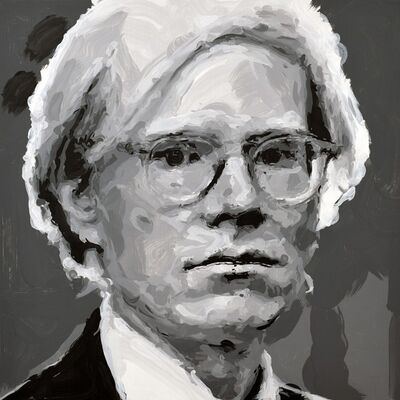 Rob and Nick Carter, 'Andy Warhol Robot Painting, Painting time: 15:10:00 Stroke count: 6,210 18-19 October 2019', 2019