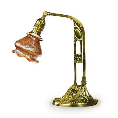 Loetz, 'Loetz Desklamp, brass, iridescent glass, ca 1901 Phenomen Gre 1/104 ', ca. 1901