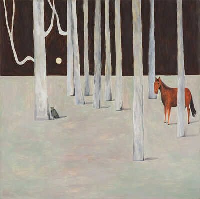 Noel McKenna, 'Cat and horse in trees', 2016