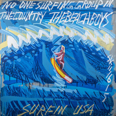 Steve Keene, 'Beach Boys - Surfin' USA', 2015