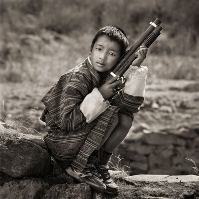 Dana Gluckstein, 'Young Boy at Religious Festival, Bhutan', 2010