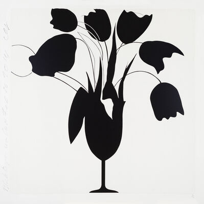 Donald Sultan, 'Black Tulips and Vase, Feb 26', 2014