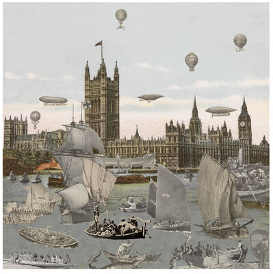 Peter Blake, 'London- River Thames- Regatta', 2013