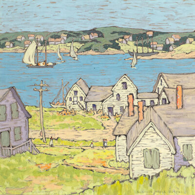 Eleanor Parke Custis, 'Across the Bay, Boothbay Harbor, Maine', 1924