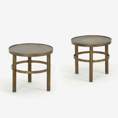 Philip and Kelvin LaVerne, 'occasional tables, pair', c. 1965