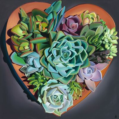 "Dyana Hesson, '""I Left My Heart in Santa Barbara, Succulents""', 2019"