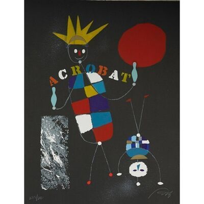 Wolfgang Roth, 'Rare Wolfgang Roth Dada Bauhaus Circus Silkscreen Print 6', 20th Century