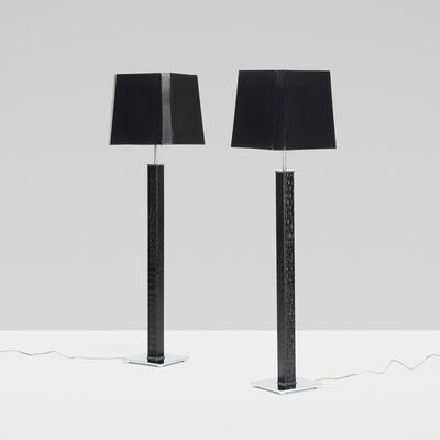 Karl Springer, 'Square Column floor lamps, pair', c. 1975