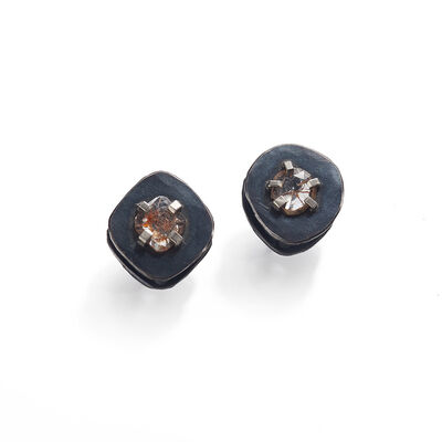 Sandra Enterline, 'Diamond Slice Stud Earrings', 2012