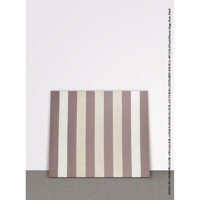 Daniel Buren, 'Peinture acrylique blanche sur tissu rayé blanc et bleu', December 1969